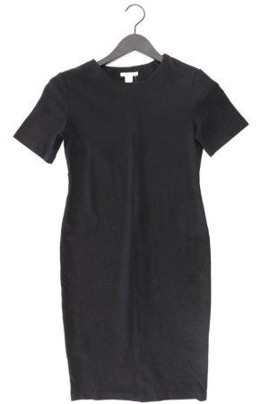 H&M Etuikleid Größe S Kurzarm schwarz aus Viskose