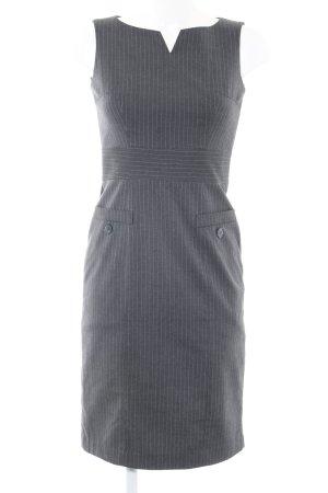 H&M Etuikleid hellgrau Streifenmuster Business-Look