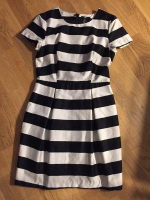 H&M etuikleid Kleid streifen 38 schwarz grau Silber