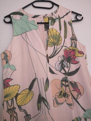 H&m etuikleid rosa Blume 34 Xs neuwertig