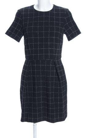 H&M Etuikleid schwarz-weiß Allover-Druck Casual-Look