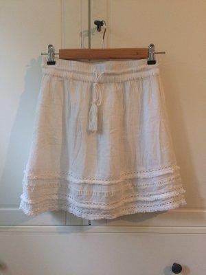 H&M Jupe à franges blanc