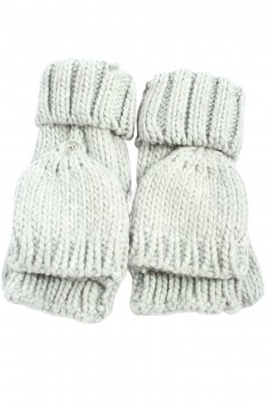 H&M Mittens light grey cable stitch casual look