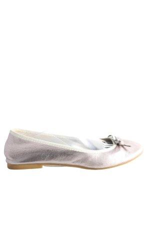 H&M faltbare Ballerinas silberfarben Casual-Look