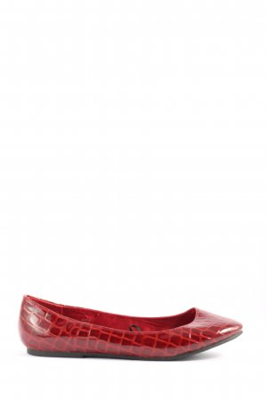 H&M Lackballerinas rot Animalmuster Casual-Look
