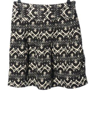 H&M Faltenrock schwarz-weiß abstraktes Muster Casual-Look