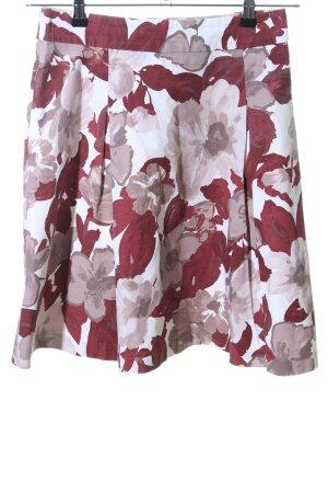 H&M Plaid Skirt flower pattern casual look