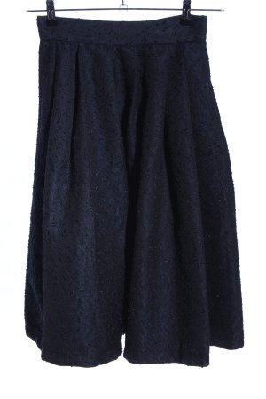 H&M Plaid Skirt blue-black allover print elegant