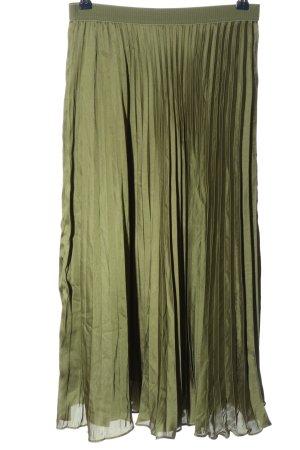 H&M Plisowana spódnica khaki W stylu casual