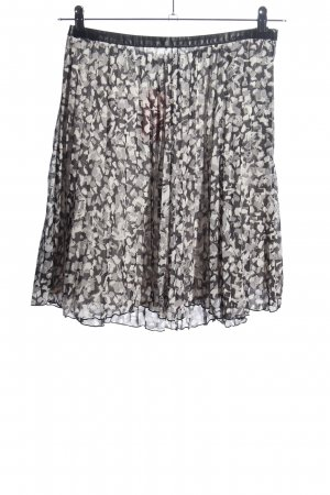H&M Jupe à plis gris clair-noir imprimé allover style décontracté