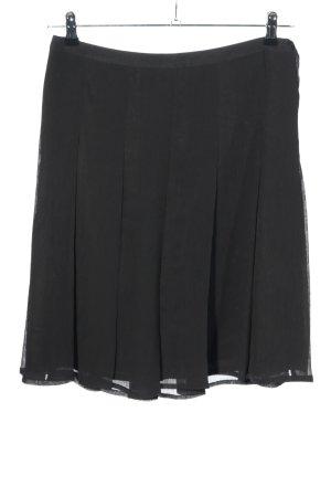 H&M Jupe à plis noir moucheté style décontracté