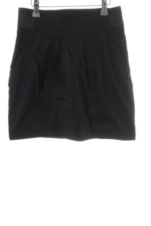 H&M Faltenrock schwarz Casual-Look