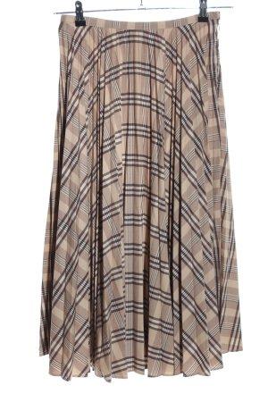 H&M Plisowana spódnica Wzór w kratkę W stylu biznesowym