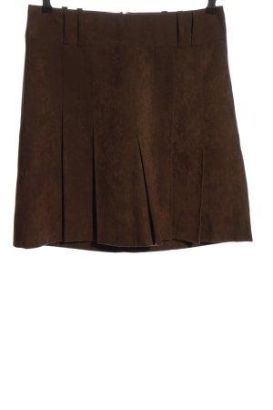 H&M Faltenrock braun Casual-Look