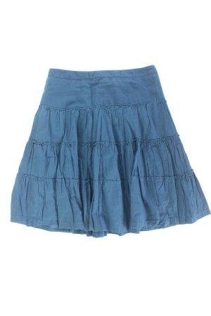 H&M Faltenrock Größe 42 blau aus Baumwolle