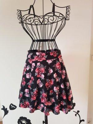 H&M Divided Cirkelrok zwart-roze