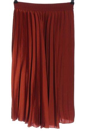 H&M Faltenrock rot Elegant