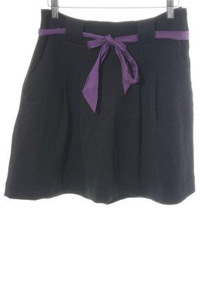 H&M Faltenrock schwarz-lila Elegant
