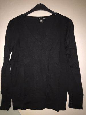 H&M Feinstrick Pullover M schwarz