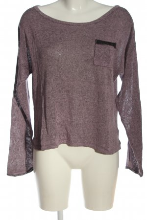 H&M Feinstrickpullover lila meliert Casual-Look