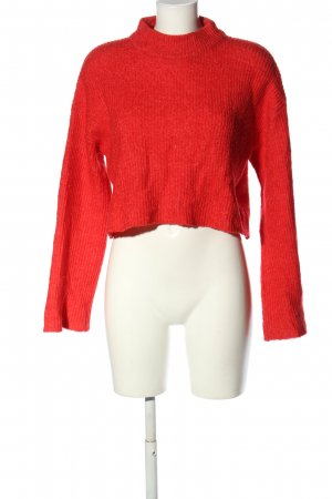 H&M Feinstrickpullover rot Zopfmuster Casual-Look