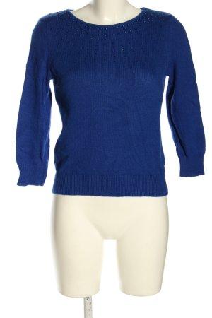 H&M Feinstrickpullover blau Casual-Look