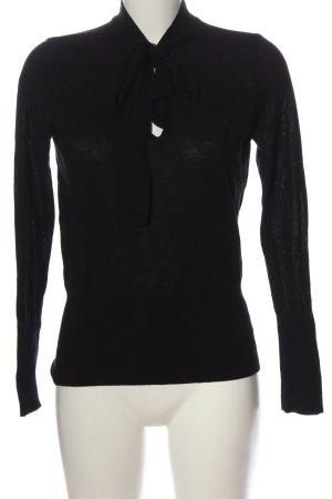 H&M Feinstrickpullover schwarz Casual-Look
