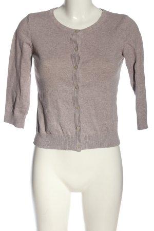 H&M Veste en tricot gris clair moucheté style décontracté