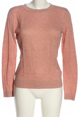 H&M Feinstrickpullover pink Zopfmuster Casual-Look