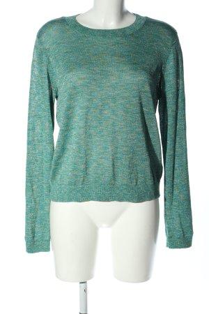 H&M Feinstrickpullover grün meliert Casual-Look
