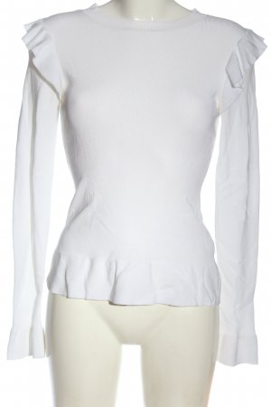 H&M Feinstrickpullover weiß Casual-Look