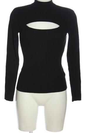 H&M Fine Knit Jumper black casual look