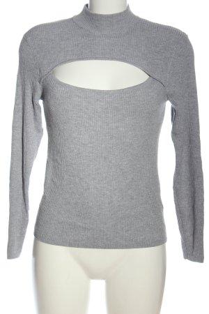 H&M Fine Knit Jumper light grey casual look