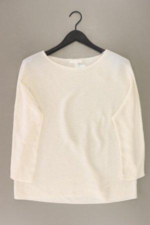 H&M Feinstrickpullover Größe M weiß aus Polyester