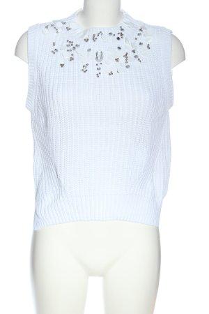H&M Canotta all'uncinetto bianco stile casual