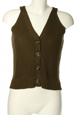 H&M Fine Knitted Cardigan brown cable stitch elegant