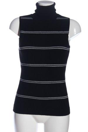 H&M Fijn gebreide cardigan zwart-wit gestreept patroon casual uitstraling