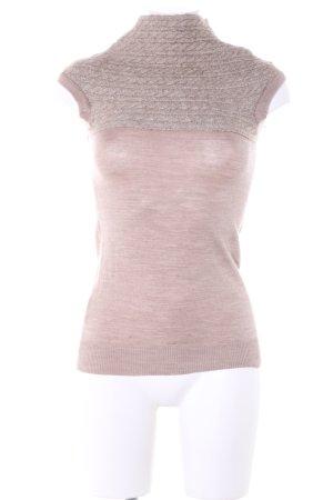 H&M Cardigan en maille fine rose moucheté style décontracté