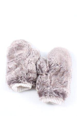 H&M Guantes de piel gris claro look casual