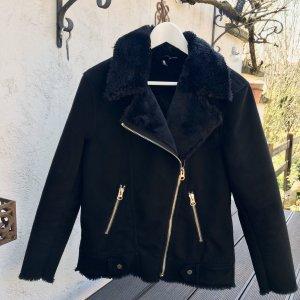 H&M Biker Jacket black-gold-colored