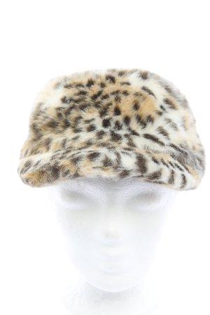 H&M Chapeau en fourrure imprimé allover style décontracté