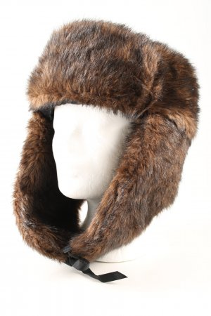 H&M Cappello in pelliccia marrone stile casual