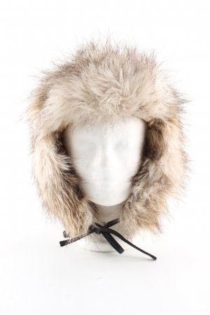H&M Fur Hat natural white-brown casual look