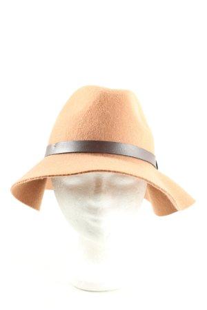 H&M Wollen hoed licht Oranje casual uitstraling