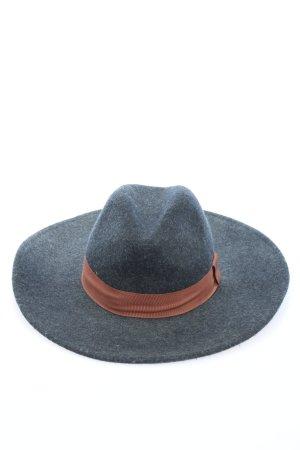 H&M Felt Hat blue-brown weave pattern casual look