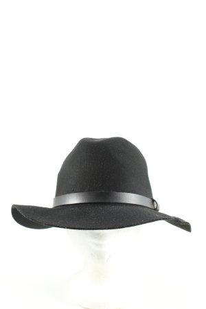H&M Filzhut schwarz extravaganter Stil