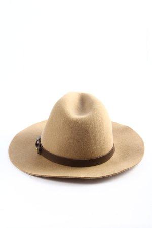 H&M Cappello in feltro crema-marrone stile casual