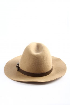 H&M Felt Hat cream-brown casual look