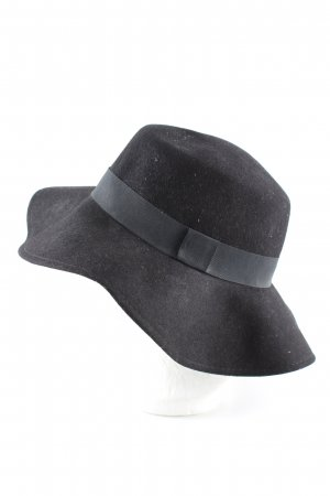 H&M Chapeau en feutre noir élégant