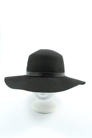 H&M Chapeau en feutre noir style décontracté